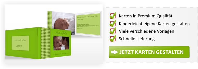 Geburtskarten online gestalten