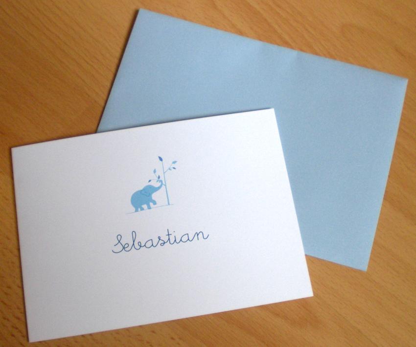 Kartenmacherei im Test: Unsere Karte mit Umschlag