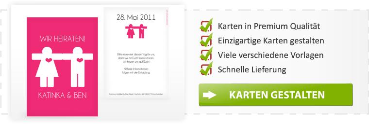Save the Date Karten selbst gestalten